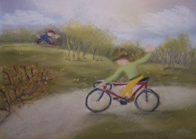 Das Fahrrad am Stadtrand