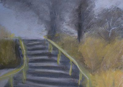 Einen Tag vor Weihnachten - Treppen Winzerischer Garten