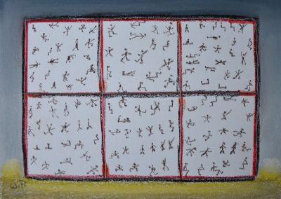 Intuitive Malerei: Sechs Leben im Karton
