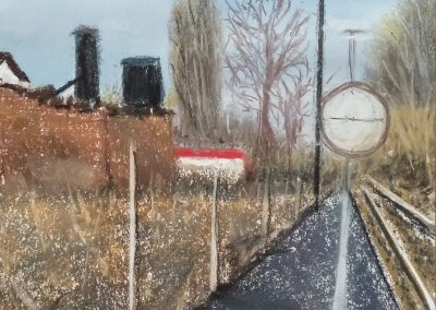 Kunstdruck Bahnhof Windelsbleiche Bielefeld