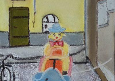 Naive Malerei kurz erklärt - Clown - Lavagna - Italien