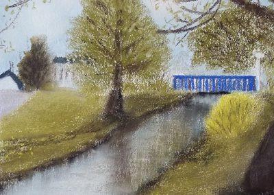 Die blaue Brücke am Sulzbach - Heitersheim