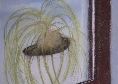 Stillleben Malerei : Elefantenfuß auf der Fensterbank