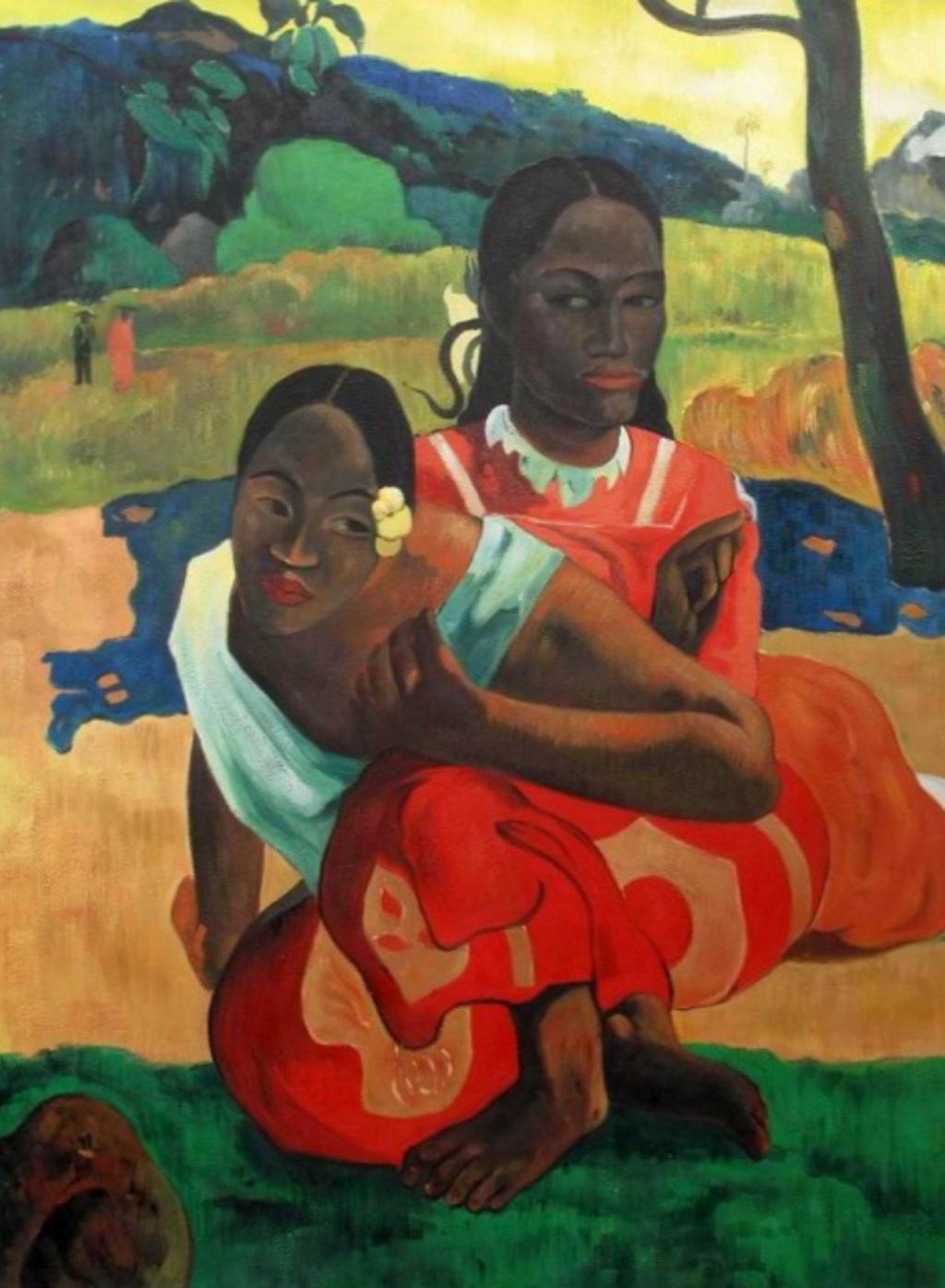 Berühmte Ölgemälde: Eugène Henri Paul Gauguin (* 7. Juni 1848 in Paris; † 8. Mai 1903 in Atuona auf Hiva Oa, Französisch-Polynesien) Expressionismus Wann heiratest du? (1892) in 101,5 × 77,5 cm Öl auf Leinwand