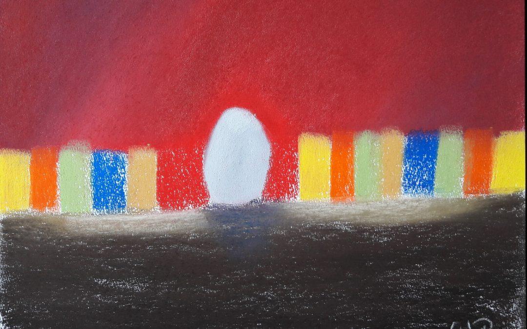 Gemälde Stillleben vereinen Formen, Farben und Figuren