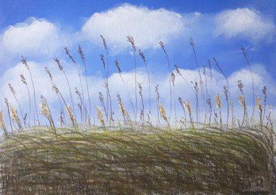 Pastellkreide Landschaft Naturschutzgebiet