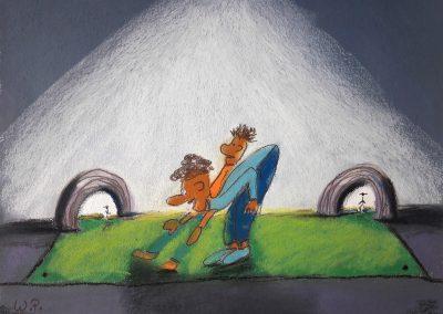 Pastellmalerei Künstler Comic Bild