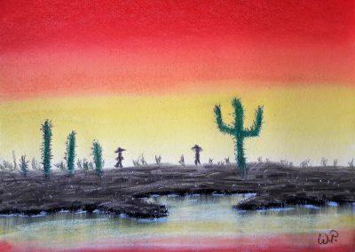 Pastellmalerei Ausflug nach Mexico