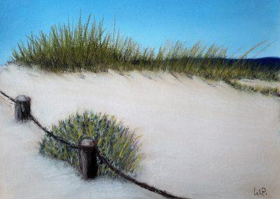 Kreidebild Sanddüne Portugal