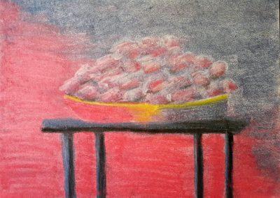 Stillleben Tisch Pastellmalerei