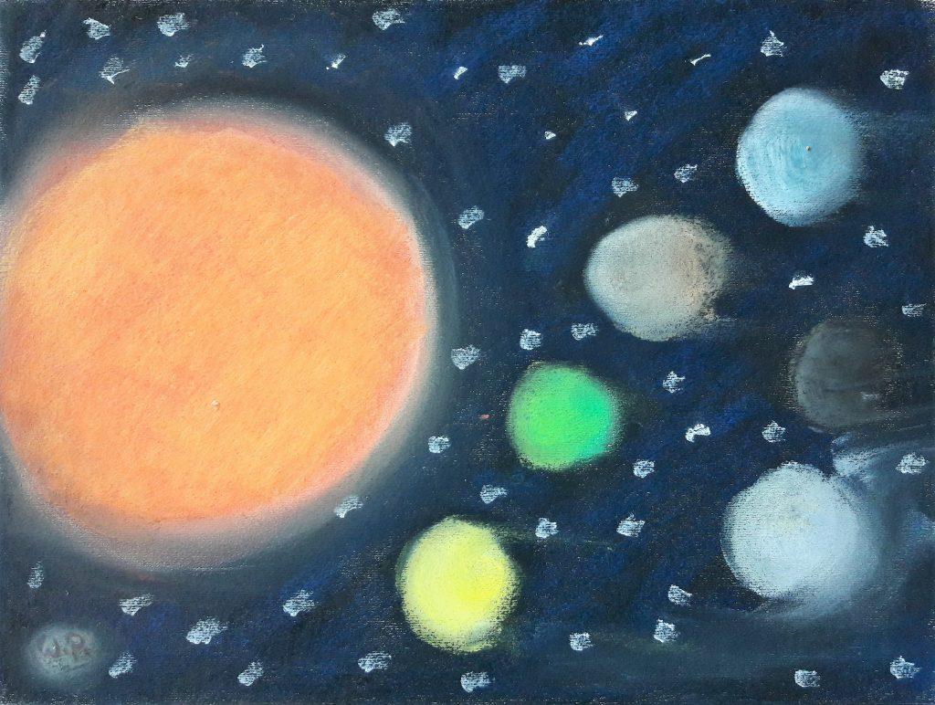 Henri Rousseaus Kinder das Sonnensystem berühmte Planete