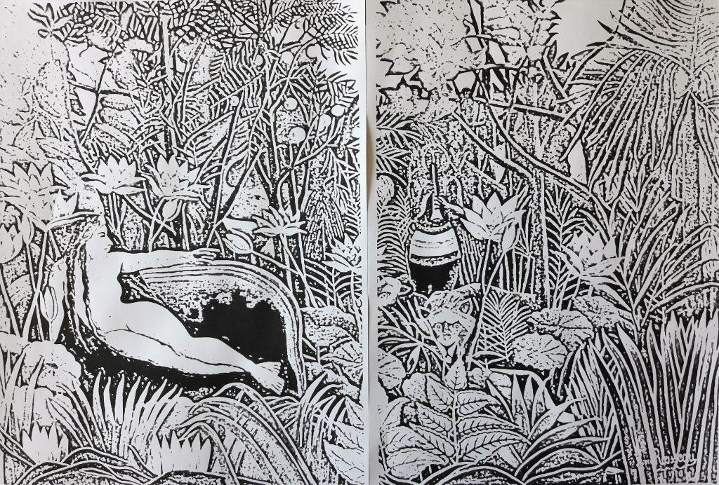 Skizze zu Henri Rousseau der Traum Bildbeschreibung